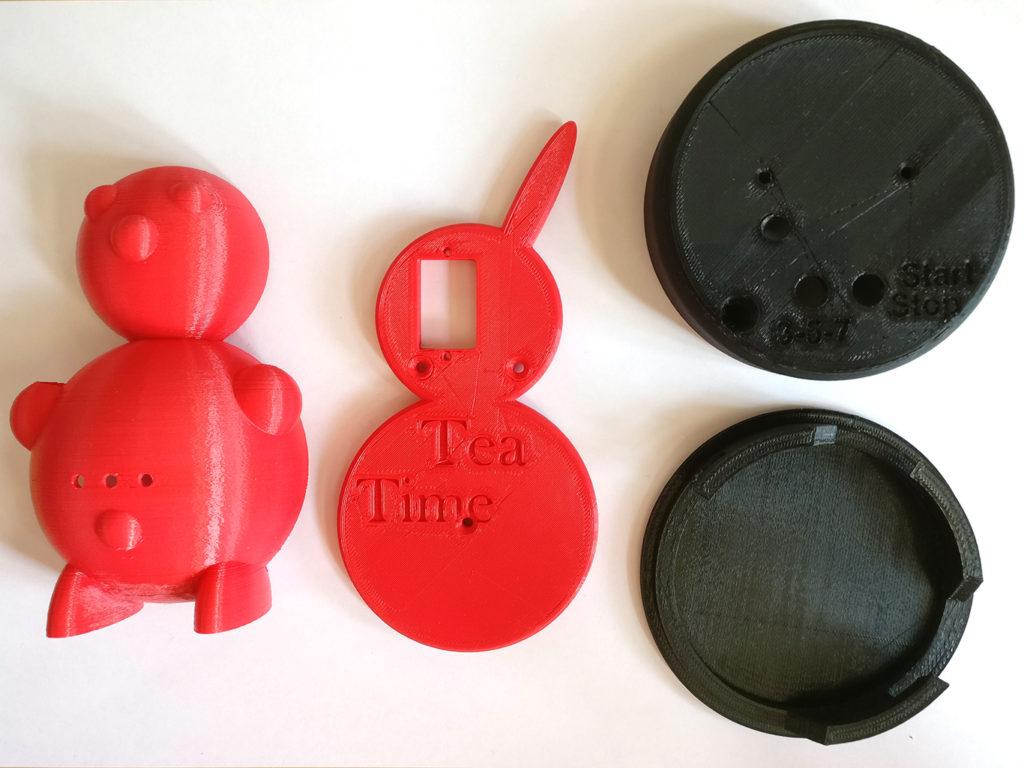3D-gedruckte Teile des Teehasen Teeodohr